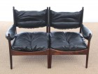 Mid-Century Modern Danish 2 seats sofa in Rio rosewood model Modus by Kristian Vedel