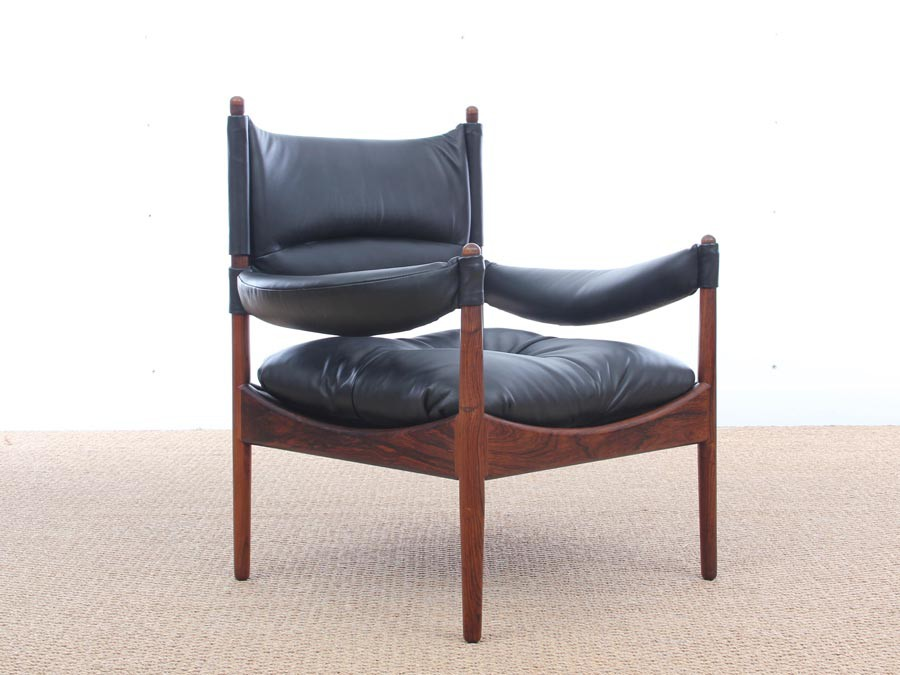 Mid Century Modern Danish Lounge Chair And Ottoman In Rio Rosewood Model Modus By Kristian Vedel