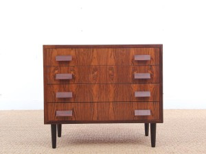 Mid-Century modern small chest of drawers in Rio rosewood