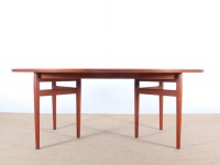 Mid century modern scandinavian dining table in teak by Arne Vodder