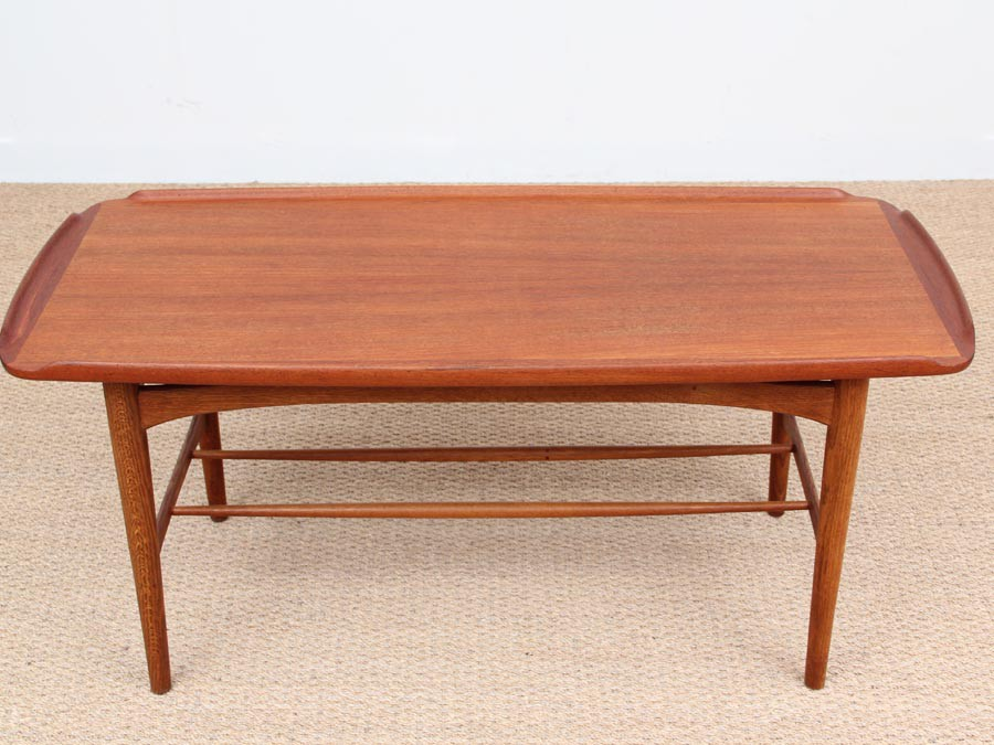 Table basse scandinave teck for Table basse teck et verre