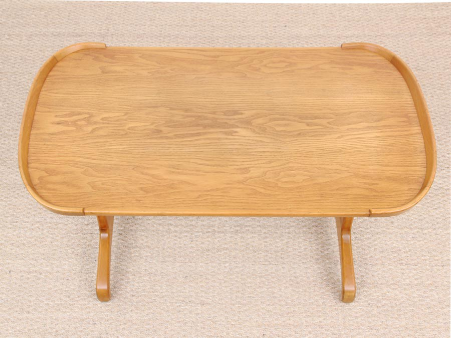 Mid Century Modern Coffee Table In Beech And Elm Galerie M Bler