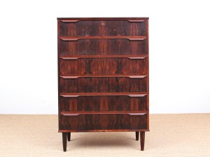 Danish Modern chest of drawers in Rio rosewood