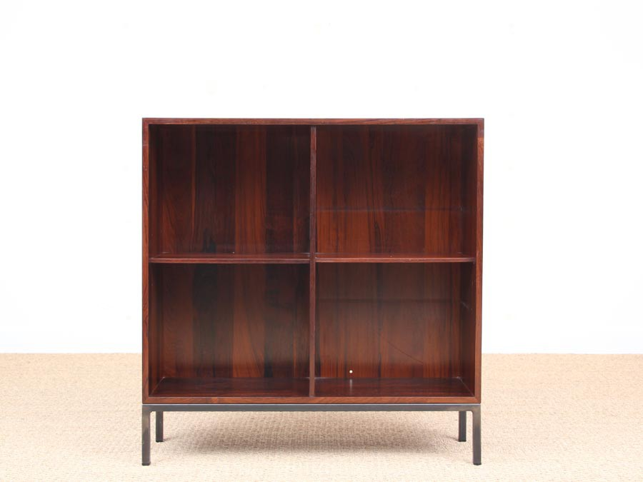 Mid-Century Modern Small Bookcase In Rio Rosewood