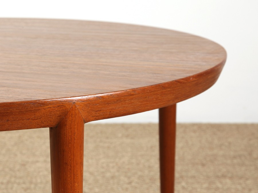 Table basse scandinave ronde teck galerie m bler for Table ronde scandinave avec rallonge