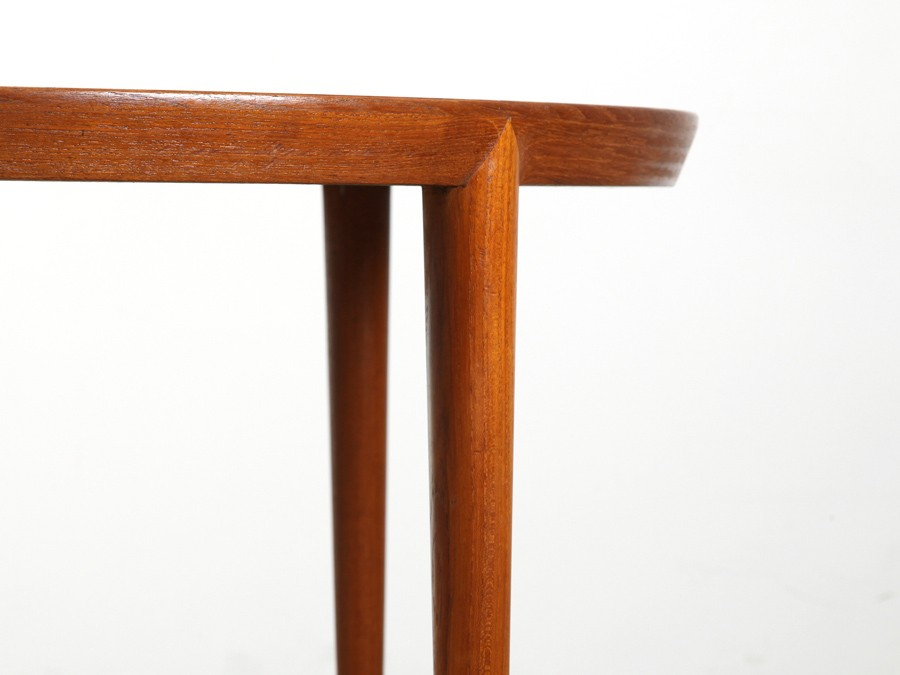 Table basse chene massif blanchi - Table ronde cocktail scandinave ...