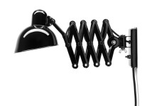 Mid-Century  modern  wall lamp Kaiser Idell 6718-W black by Christian Dell