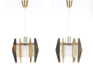 Mid-Century  modern scandinavian pair of pendant lamps  by Carl Fagerlund