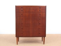 Mid-Century  modern  chest of drawers in teck