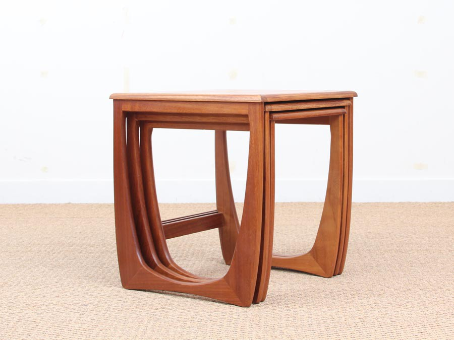 Mid Century Modern Scandinavian Nesting Tables In Teak Model Astro For G Plan