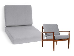 Set of cushions for Grete Jalk lounge chair Poul Jepesen PJ 56 - foam and cover- seat and back