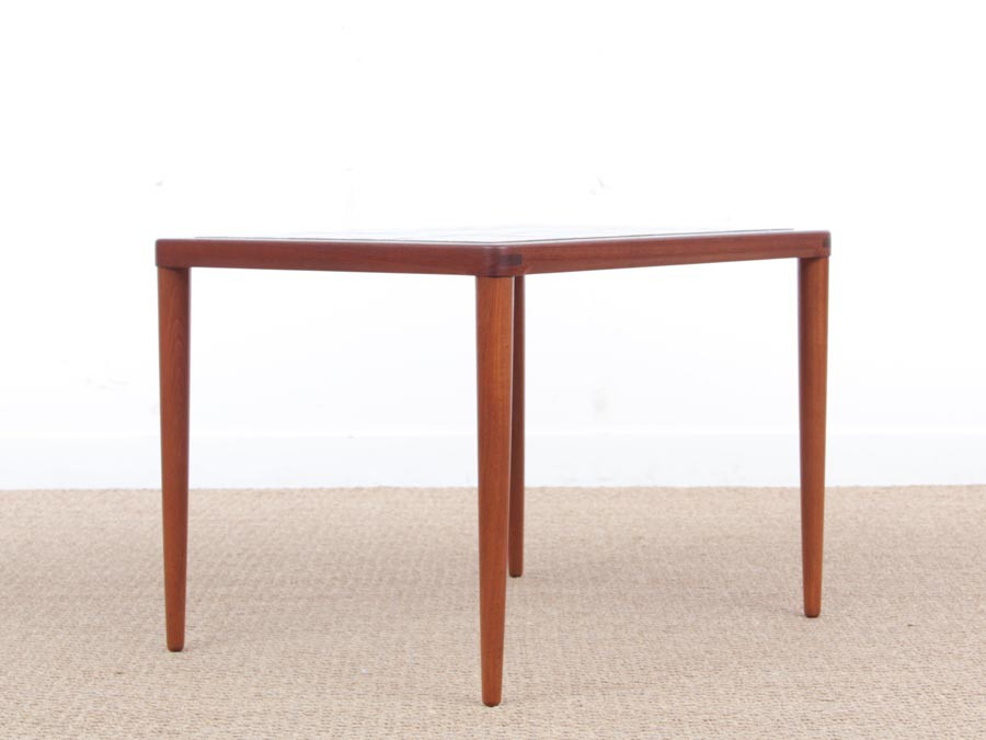 Mid Century Modern Scandinavian Teak Coffee Table With Ceramic Tiles By H.W.  Klein ...