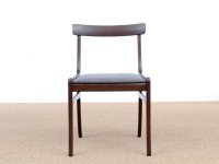 Mid-Century  modern scandinavian set of 6 dining chairs model Rungstedlund in mahogany by Ole Wanscher