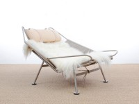 Lounge chair Flag Halyard PP 225 by Hans Wegner new edition