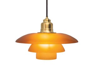 Mid-Century  modern scandinavian pendant lamp PH 3 1/2-3 Amber coloured by Poul Henningsen for Louis Poulsen