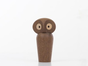 Small Owl in smaked oak by Paul Anker Hansen. New edition