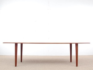 Table basse scandinave en teck  massif model fd 516