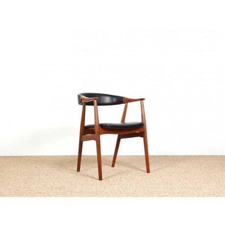 fauteuil de bureau scandinave en teck model 213 galerie m bler. Black Bedroom Furniture Sets. Home Design Ideas