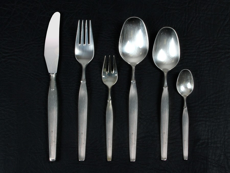 + ... & Scandinavian silver plated cutlery set for 12 people. Model Savoy ...