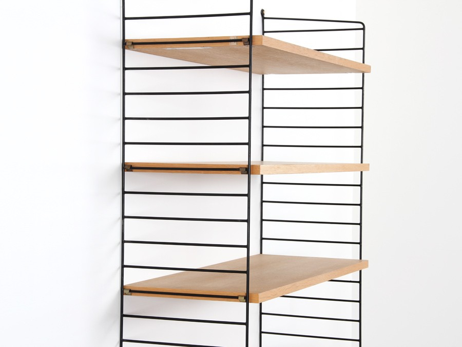 Wall shelf unit strinning galerie m bler - Etagere string vintage ...