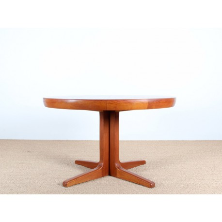 Table scandinave en teck pieds central 4 8 pers galerie m bler - Pied meuble scandinave ...
