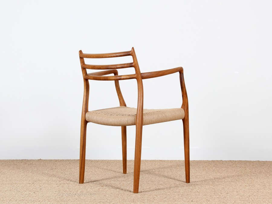 mid century modern danish arm chair model 62 by niels o. Black Bedroom Furniture Sets. Home Design Ideas