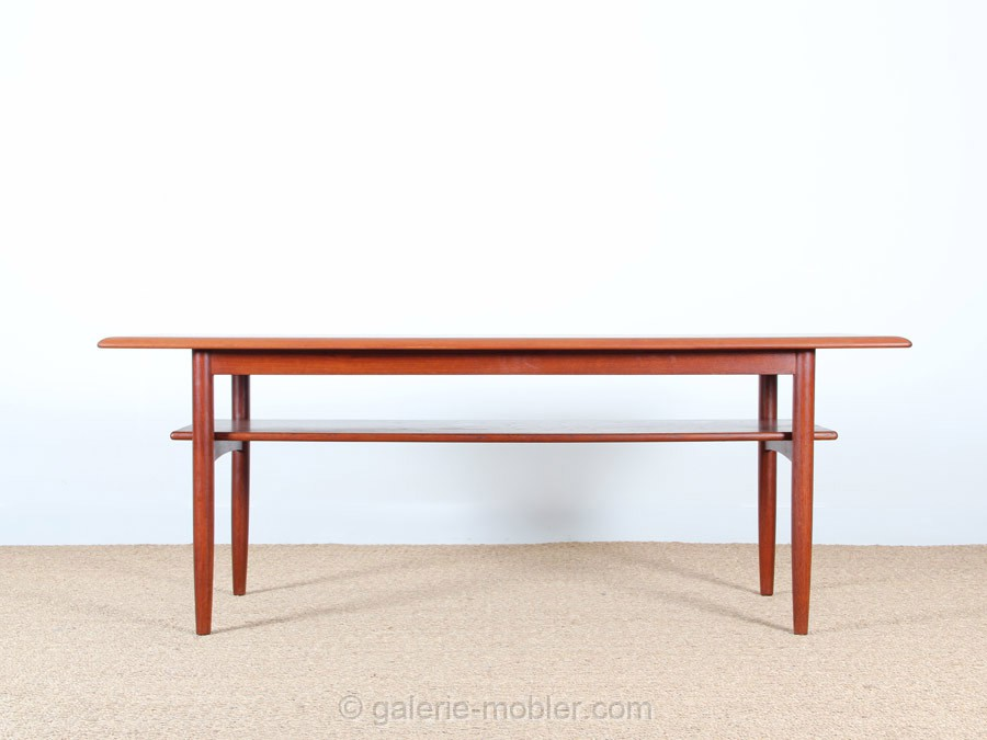 Grande table basse scandinave en teck galerie m bler for Table scandinave en teck