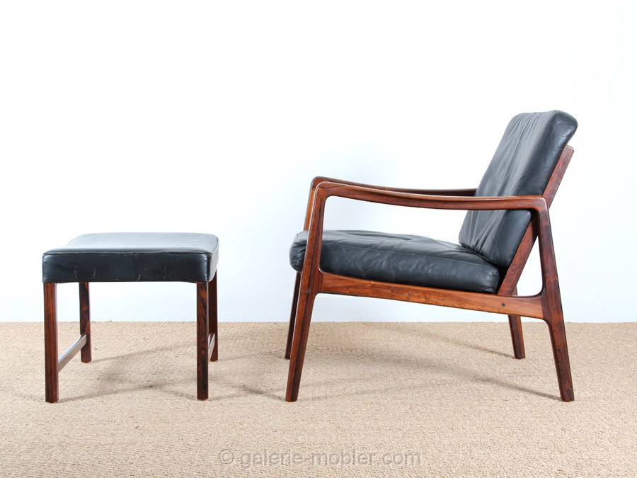 rio rosewood easy chair and ottoman model 110 1951 galerie mbler - Modele Fauteuille Palissandre