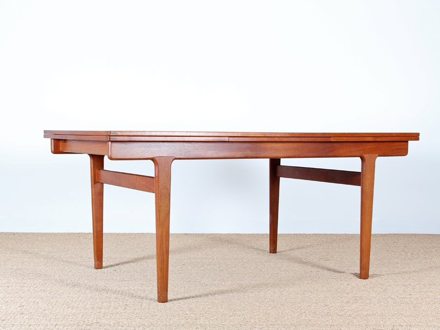 Grande table de repas scandinave en teck 6 10 pers for Table repas scandinave