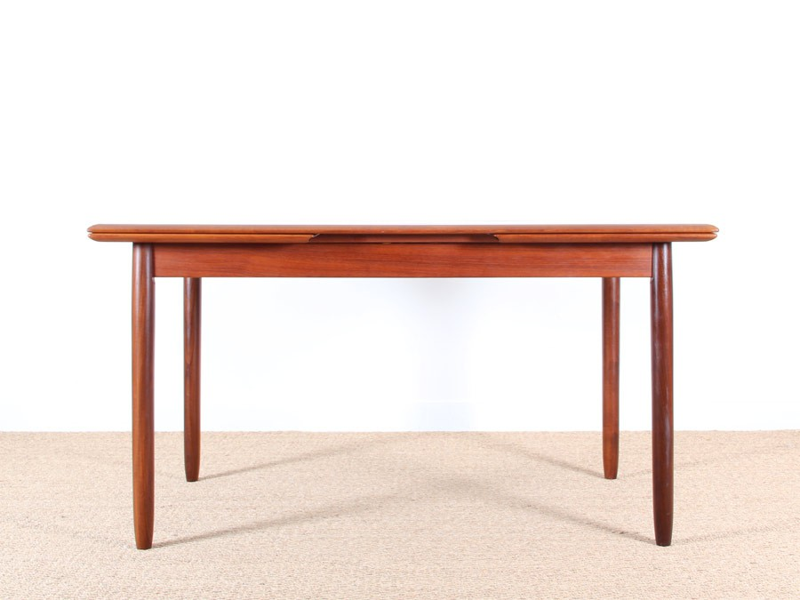Table scandinave extensible en teck 4 8 pers galerie - Table scandinave extensible ...