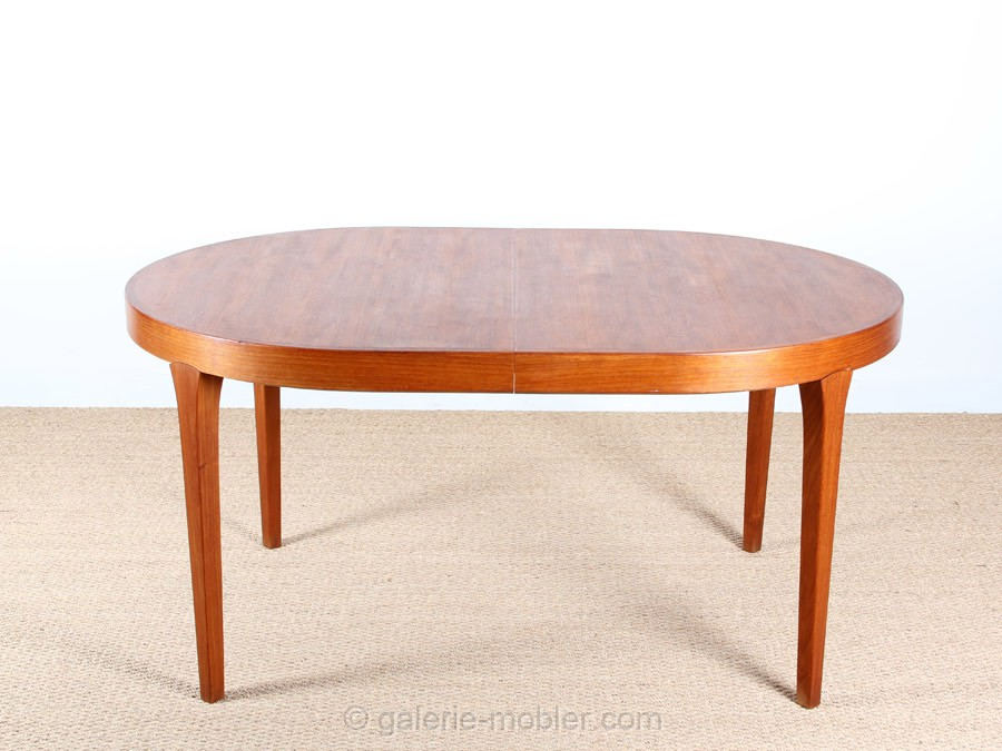 Table de repas scandinave ovale en teck 6 10 pers - Table ovale en teck ...