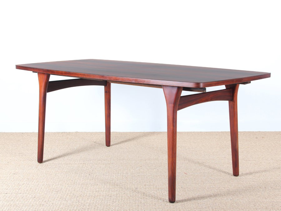 Table de repas scandinave en palissandre 6 10 pers for Table repas scandinave