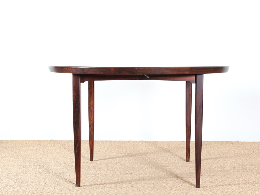 Table ronde extensible scandinave en palissandre de rio 4 for Table scandinave extensible