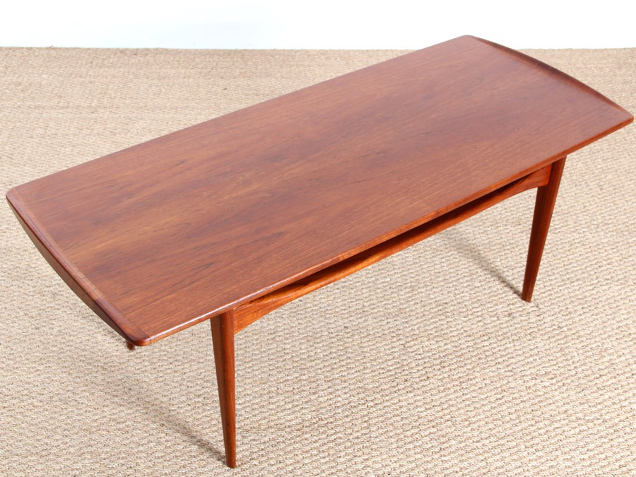 Table basse scandinave en teck galerie m bler for Table basse scandinave but