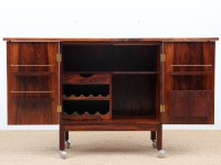 Danish Modern Bar Cabinet by Bruksbo
