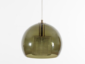 Celling lamp in green glass by Karl Fagerlund for Orrefors