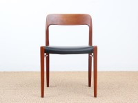 4 danish modern chairs in teak model 75 by Niels O Møller