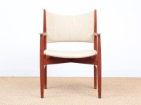Danish mid-century pair of armrest in teck. New upholstery on demand.