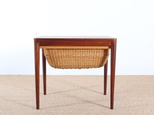 Scandinavian seweing table in rosewood