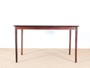 Danish mid-century modern rosewood dining table by Ernst Kuhn for Normina