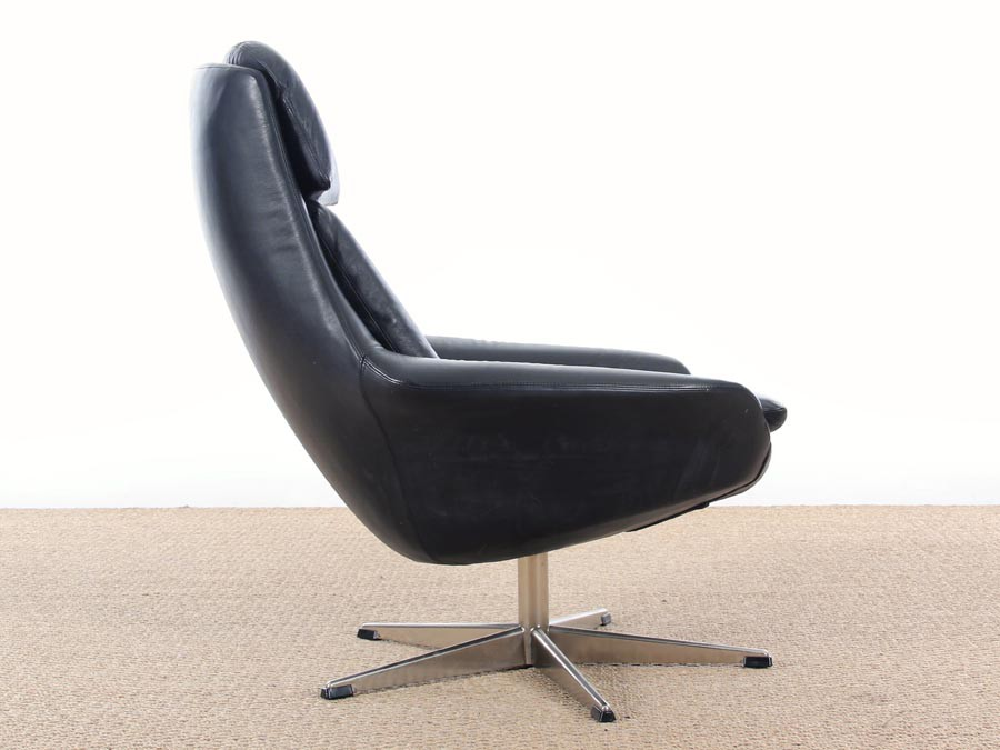 Danish Mid Century Modern Swivel Lounge Chair Galerie M 248 Bler