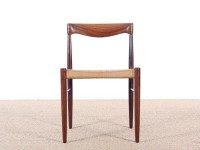 Danish mid-century modern set of 6 chairs in Rio rosewood by H. W. Klein