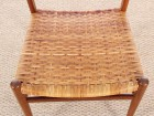 Danish mid-century set of 4 dining chairs in teak and cane, Aksel Bender Madsen style