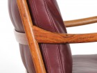 Danish mid-century modern pair of PJ149 colonial chairs in Rio rosewood