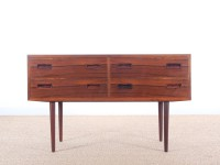 Danish mid-century modern chest of drawers in Rio rosewood by Poul Hundevad