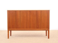 Danish mid-century modern small side board in teak by Bertil Fridhagen