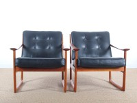Danish mid-century modern easy chair model 130