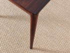 Danish mid-century modern coffee table in Rio rosewood