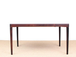 Danish mid-century modern dining table in Rio rosewood by H. W. Klein