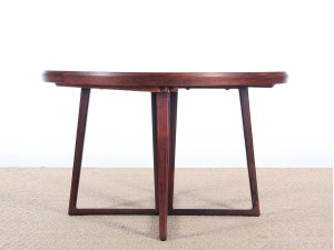 Danish mid-century modern dining table in Rio rosewood
